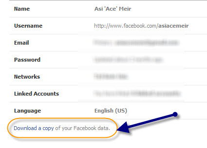 איך עושים גיבוי לפייסבוק