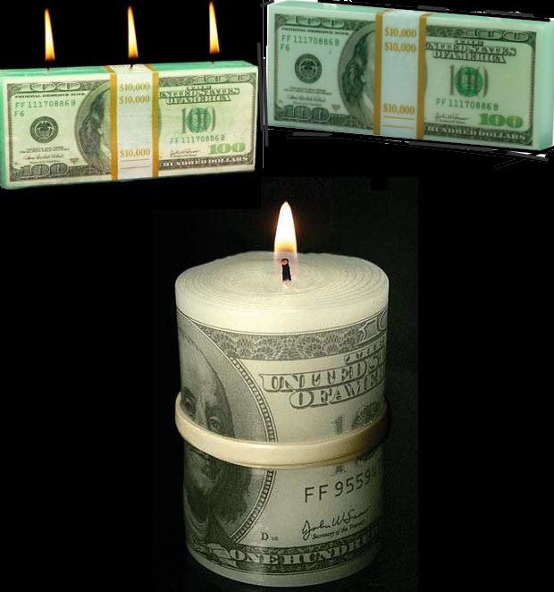 לשרוף כסף