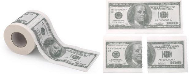 לנגב את התחת עם דולרים